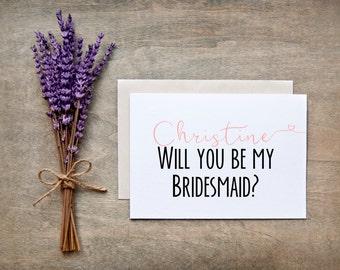 Will you be my Bridesmaid Card - Bridesmaid Gift, Bridesmaid proposal card, nc2