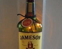 Jameson Bottle Light/Jameson Irish Whiskey Bottle/ Bar Decorations/Bottle Light/Home Decor/Irish/St Paddys Day Gift/Bar Accessories