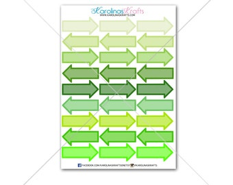 36 Arrow Stickers Stickers! Perfect for your Erin Condren Life Planner, Filofax Stickers/Functional Planner Stickers! #SQ00281 GREEN