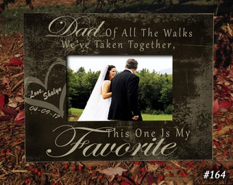 """FAV/DAD: 8""""x10"""" Holds 4""""x6"""" Photo Father of the Bride Gift, Bridal Wedding Frame, Bridal Frame, Wedding Gifts for Dad, Picture Frame Dad"""