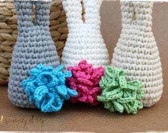 """Crochet Chunky """"Big Tail"""" Bunny - Made to Order"""