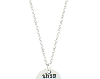 This too shall pass necklace! Religious necklace - scripture necklace - scripture pendant - bible pendant -