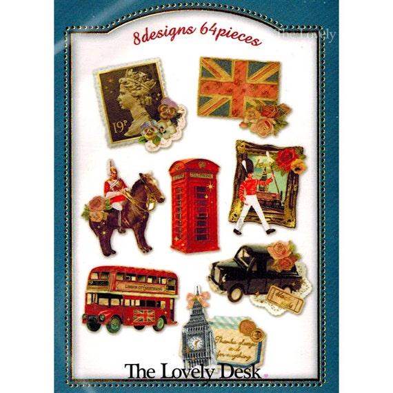 Items similar to london flake stickers japanese q lia - Stickers porte london ...