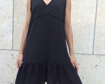 Little black dress, playfull dress,