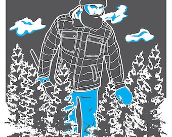 Paul Bunyan Poster Digital Art Print