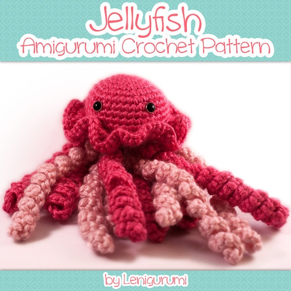 Beginner Crochet Toy Patterns : Amigurumi Pattern Jellyfish Beginner crochet PDF pattern