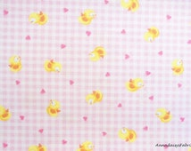 Pink Baby Fabric, Red Rooster Sweet Dreams 24474, Pink Gingham Check Fabric, Baby Chick Quilt Fabric, Pink Cotton Baby Girl Quilt Fabric