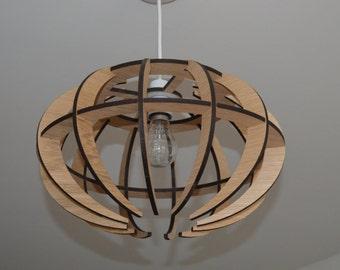 Laser cut light shade,Wooden light shade, Laser cut lamp shade, Modern light shade, contemporary light shade, globe light shade