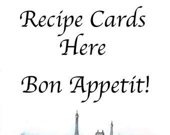 Place Recipe Cards Here. Bon Appetit!