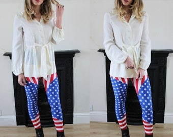 20% OFF Stars & Stripes Americana Print Leggings