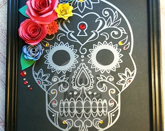 Sugar Skull, Day of the Dead, Dia de los Muertos, 3D Art