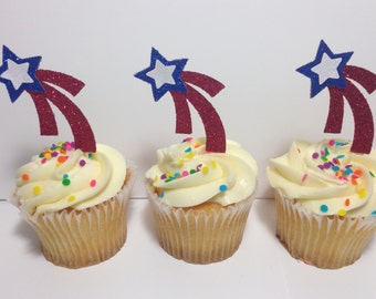 Shooting Star Cupcake Toppers