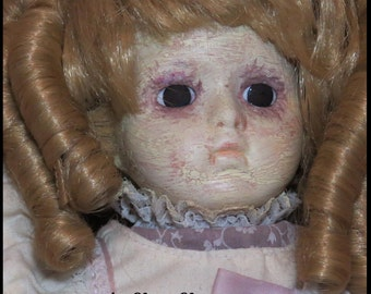 CREEPY CORPSE DOLL Zombie Doll Victorian Gothic Doll Undead Horror Doll