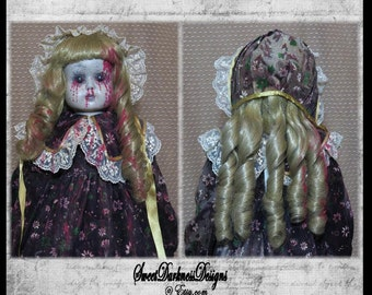 MUSICAL Zombie Doll Gothic Horror Doll,  Standing Doll