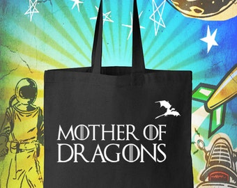 Mother of Dragons  Cotton Tote Bag Game of Thrones Printed on ONE SIDE