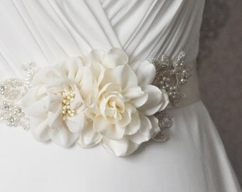 Ivory Bridal Sash
