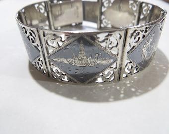 Vintage Siam Sterling Silver Bracelet / Bangle