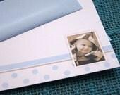 Personalized Photo Notecards - Precious Boy - Set of 12 // Custom Photo Notecard // Baby Boy Notecards