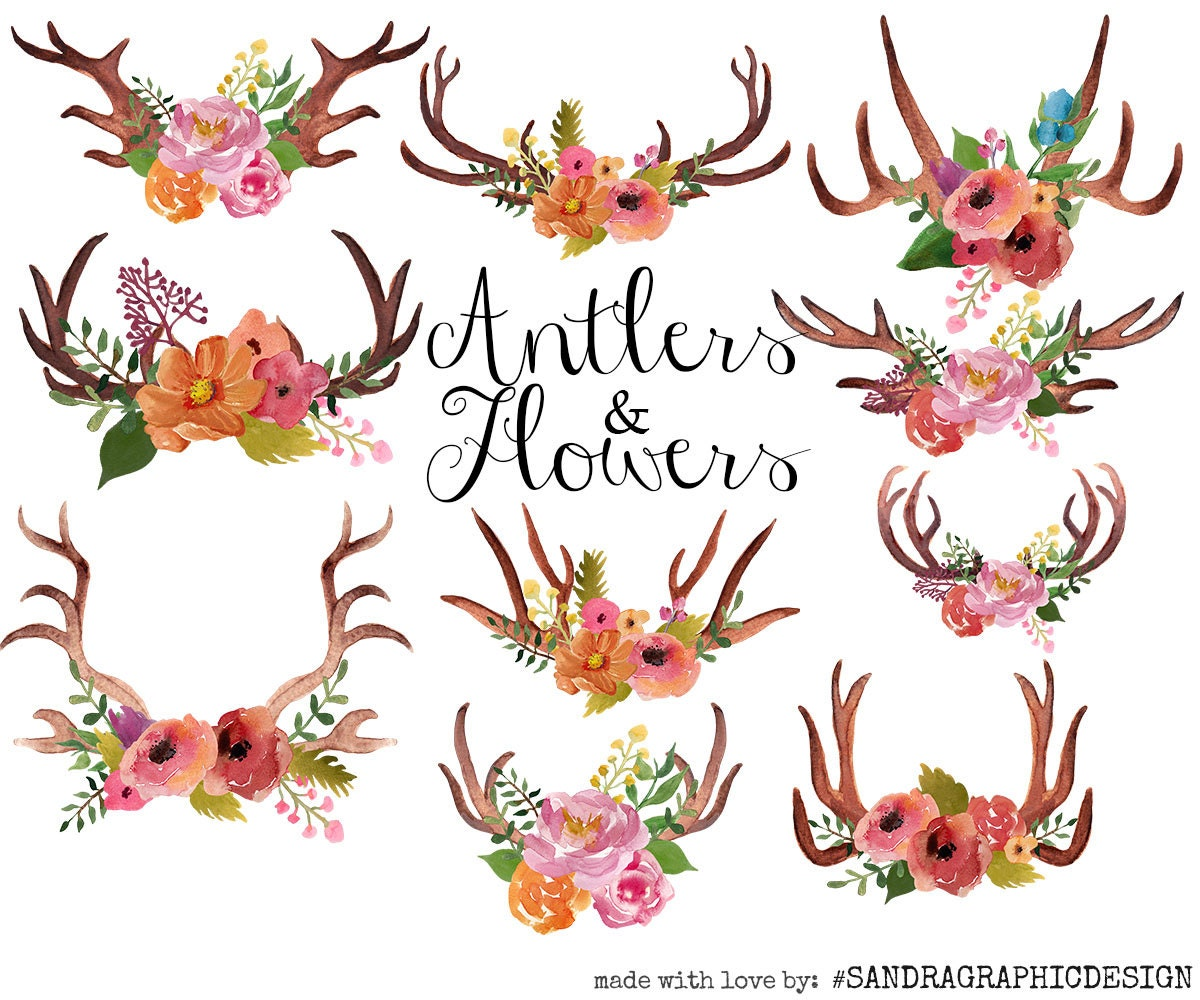 Christmas Wreath With Deer Antlers