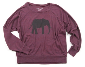 Elephant Lightweight Slouchy Pullover SALE