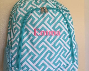 Back to school Personalized backpack great for school monogrammed backpack