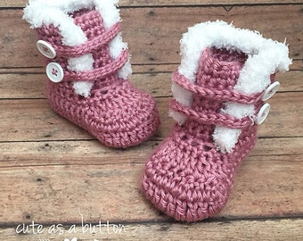 Furr boots, baby boots, baby crochet boots, ugg boots, baby crochet ugg boots, crochet ugg boots