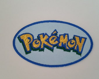 Pokemon character iron on patch Pokemon applique Pokemon embroidery Iron on Pokemon Pokemon patch Cartoon applique Kids patches