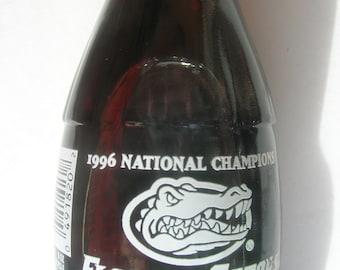 Coca Cola 1996 National Champions Florida Gators Coke Sealed Bottle / Florida Gators University of Florida Champions Coke Bottle