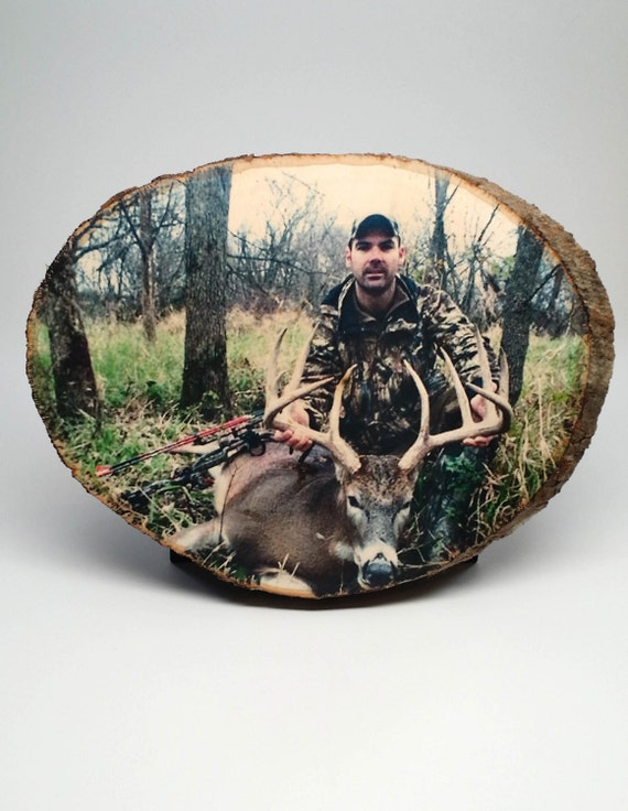 hunting decor your hunting picture on wood custom wood photo rustic log cabin hunting and fishing theme nursery d 233 cor