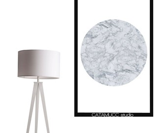 Limited White Marble print