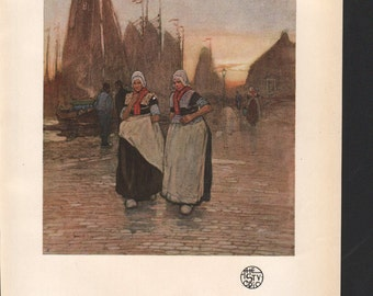 On the Quay, from the water colour by H Cassiers; The Studio magazine - PD000892