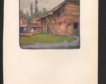 Gertrude Massey watercolor; The Studio Magazine - PD000923