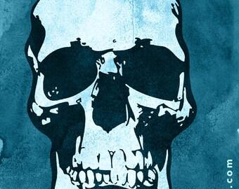 Sherlock Skull Poster (BBC)