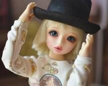 1/3 1/4bjd hats,5 colors,Lovely Bowler hat,handmade hat, type for volks sd msd leeke soom minifee Dollfie Dream