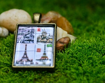 Postcards of Paris Pendant