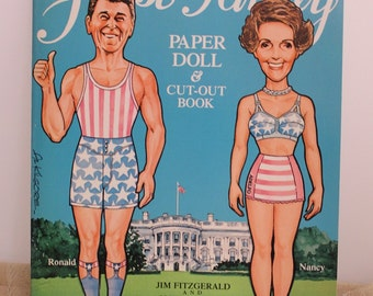First Family Paper Doll and Cut-Out Book Ronald and Nancy Regan 1981