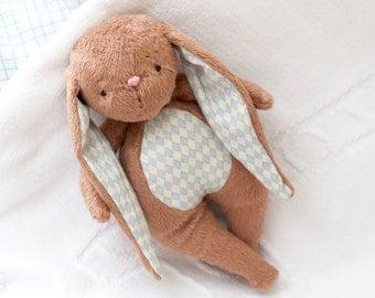 Bunny Toy-  Brown Cuddle Bunny- Easter Bunny Rabbit-Stuffed Animal
