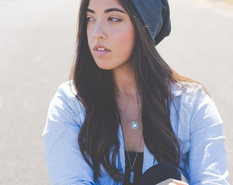 Charcoal Gray Slouchy Hat