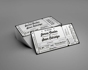 Hollywood Movie Ticket | Wedding Invitations | Sticker Seal [Printable - Digital Only]