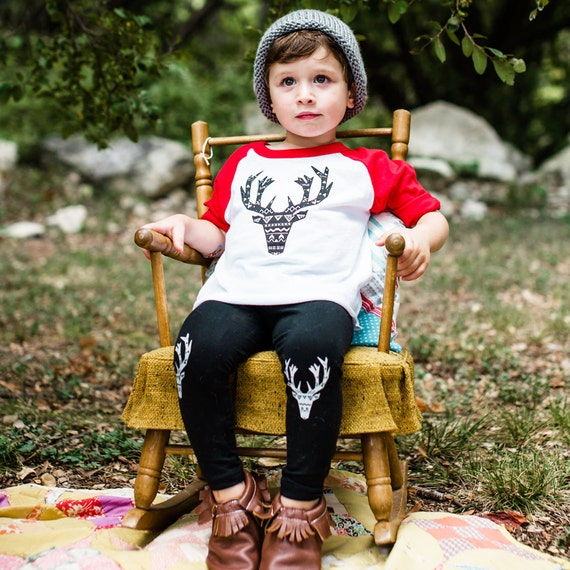 The Tribal Elk, Kids Elk Shirt, Toddler Outdoors shirt, Baby Outdoor Shirt, child t-shirt, Elk Shirt, Hipster kids, Hipster Holiday Shirt