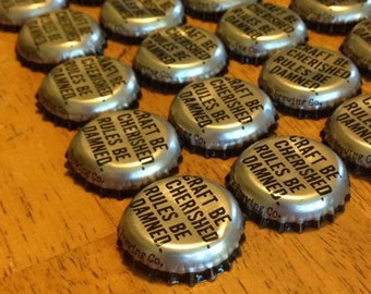 """50 DuClaw """"Craft Be Cherished Rules Be Damned"""" Bottle Caps"""