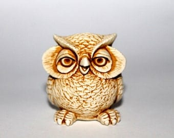 Owls. Owl Miniature Wise Owl Sculpture Animal Figurines Light Brown Owl Statuette Woodland Birds Figures Gift for Owl Collectors Gift Ideas