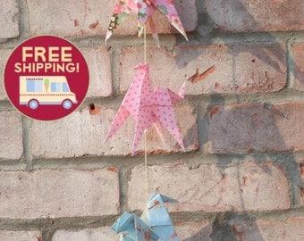 Horses origami garland- FREE SHIPPING