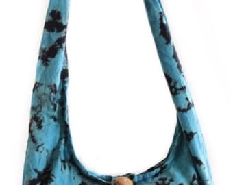 Cotton Tie Dye shoulder bag. Messenger,Hippie, Gypsy Sling,Hippy, Hobo, Crossbody, Monk,