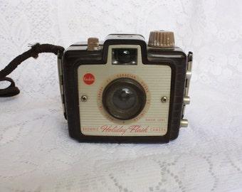 1950's Kodak Brownie Holiday Flash Camera  with strap