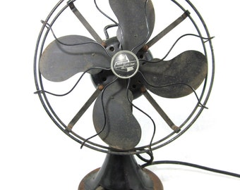 1930s Emerson Oscillating 3-Speed Desk Fan - Working!