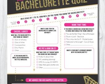 Bachelorette Party Quiz {INSTANT DOWNLOAD!} Printable Bachelorette Party Game: The Ultimate Bachelorette Quiz, Bachelorette Party Games