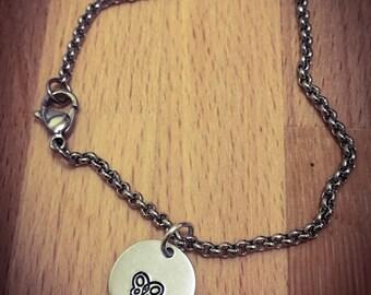 Butterfly Hand Stamped Bracelet. Stainless Steel, Cute Bracelet, Butterfly Bracelet, Butterfly Jewellery, Animal Bracelet, Charm Bracelet