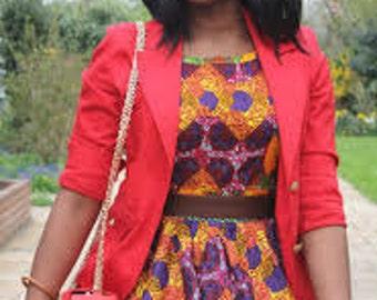 Ankara Print Dress, Zig Zag Dress, African Wax Print Dress
