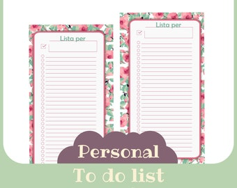 refill To do Personal butterfly style - Printable -